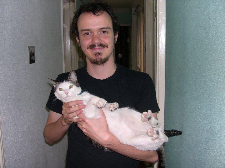 Cabezalí con su gato Nicolás