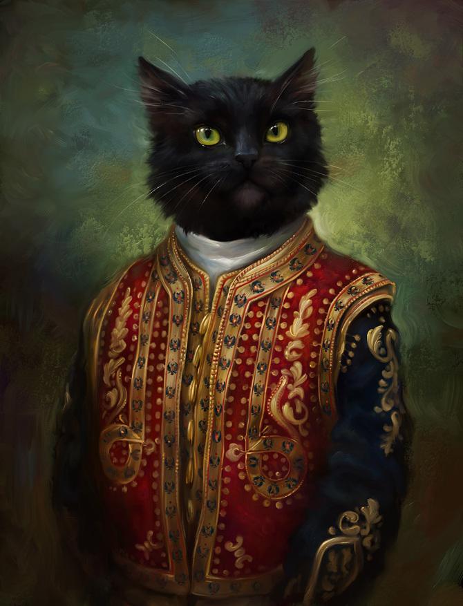 Gatos del Hermitage, dibujos