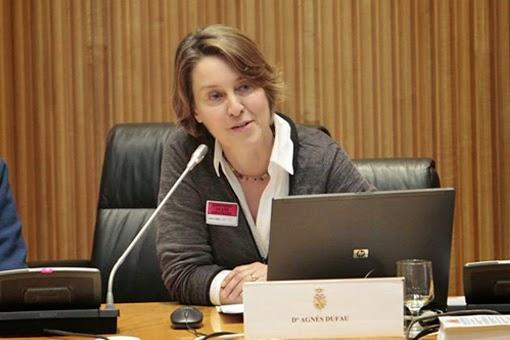 Agnès durante la presentación del Manifiesto Felino en el Congreso de los Diputados en abril. / Foto: Manifiesto Felino